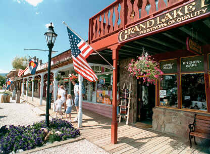 Boardwalk On Main Street Of Grand Lake Colorado